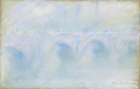Waterloo Bridge (1901) by Claude Monet. Original from the National Gallery of Art.  Free Photo
