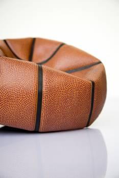 Close up of deflated basketball #390767