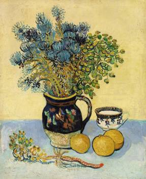 Still Life (Nature morte) (1888) by Vincent Van Gogh. Original from the Barnes Foundation.  #390788
