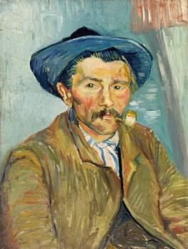 The Smoker (Le Fumeur) (1888) by Vincent Van Gogh. Original from the Barnes Foundation.  #390790