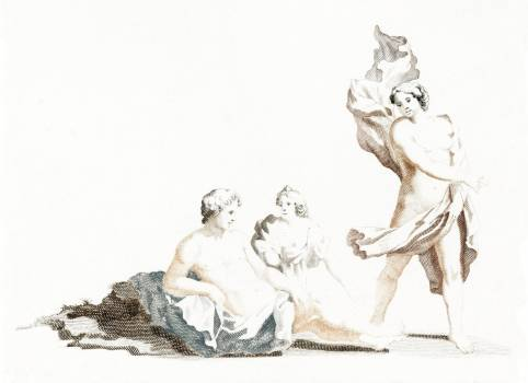 Resting man and two women by Johan Teyler (1648-1709). Original from The Rijksmuseum.  #390992