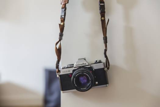 Minolta Black Gray Classic Camera #39099