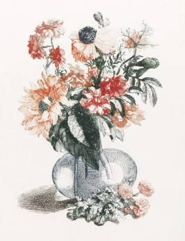 Flowers in a vase (1688-1698) by Johan Teyler (1648-1709). Original from The Rijksmuseum.  #391022