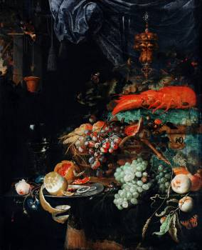 Fruits and lobster by Abraham Mignon (1660-1679). Original from The Rijksmuseum.  #391112