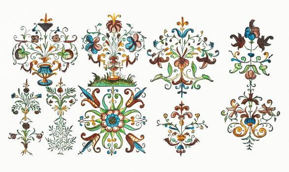 Vintage ornaments from New Modelbüch (1615) by Andreas Bretschneider (1578–1640). Original from The MET Museum.  #391229