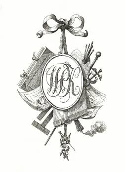 Title vignette with monogram W.P.K. (1808) by Jean Bernard (1775-1883). Original from The Rijksmuseum.  Free Photo