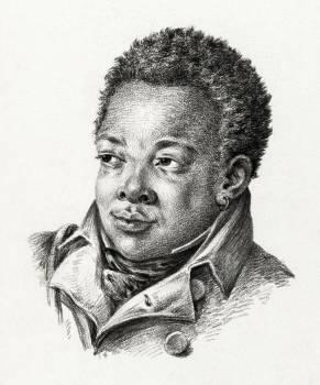 Portrait of a black man (1818) by Jean Bernard (1775-1883). Original from The Rijksmuseum.  #391457