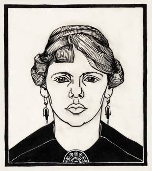 Portrait of a woman by Julie de Graag (1877-1924). Original from The Rijksmuseum.  Free Photo