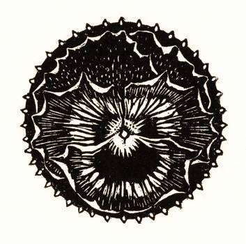 Flower badge by Julie de Graag (1877-1924). Original from The Rijksmuseum.  #391591