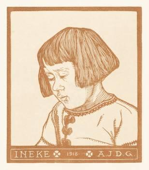 Portrait of Ineke Broekman (1916) by Julie de Graag (1877-1924). Original from The Rijksmuseum.  #391595