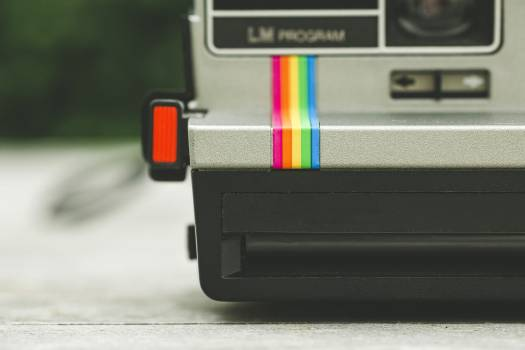 Close up of a Polaroid instant camera #391736