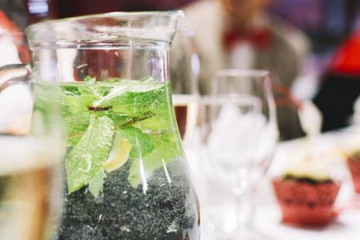 Water with mint in a jug #391806