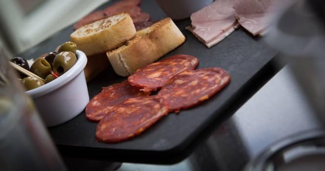 Bread food olives ham #39198
