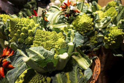 Romanesco broccoli in a grocery store #392110