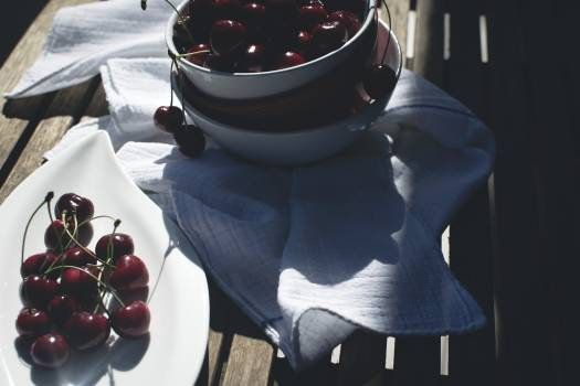 Red cherries in bowls #392175
