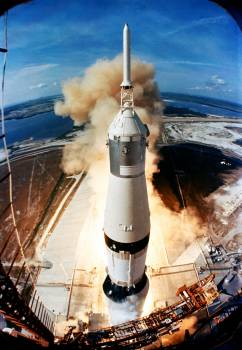 Liftoff of the Apollo 11 lunar landing mission. Original from NASA.  #392342