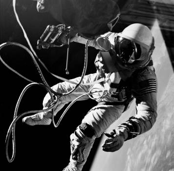 Astronaut Edward H. White II, pilot on the Gemini-Titan IV (GT-4) spaceflight, floats in the zero gravity of space outside the Gemini IV spacecraft. Original from NASA .  Free Photo