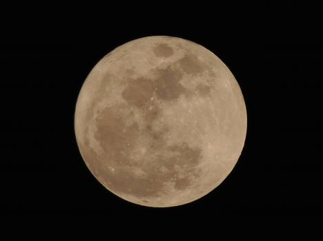 Focus Photo of Full Moon during Nightime Free Photo