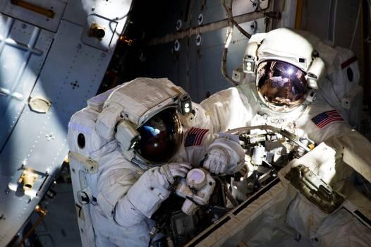 NASA astronauts in space - Original from NASA.  #392643