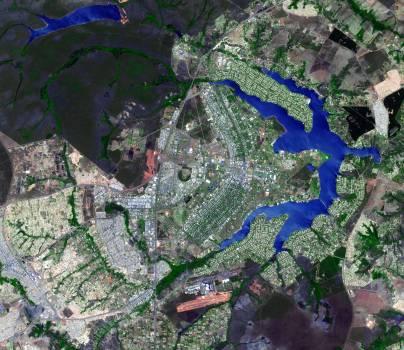 Brasilia, the capital of Brazil. Original from NASA.  #392741