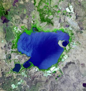 Lake Naivasha, 90km north-west of Nairobi. Original from NASA.  #392802