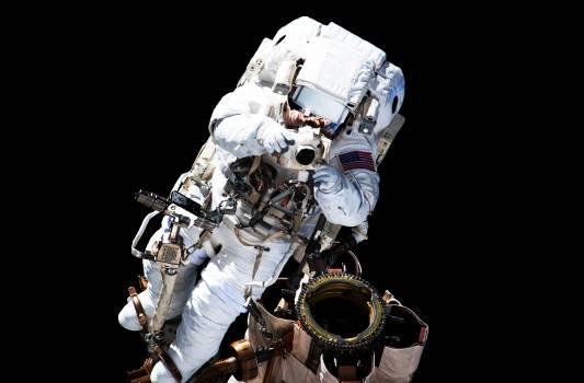 NASA astronaut Garrett Reisman during EVA 1. Original from NASA.  Free Photo