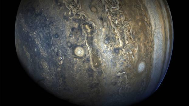 Jupiter's stunning southern hemisphere. Original from NASA.  Free Photo