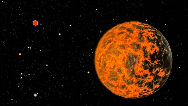 Astronomers using NASA's Spitzer Space Telescope have detected what they believe is an alien world just two-thirds the size of Earth, one of the smallest on record. Original from NASA.  #393192