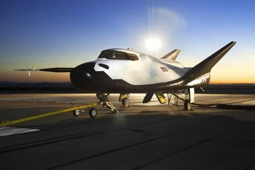 The Sierra Nevada Corporation, or SNC, Dream Chaser flight vehicle is prepared for 60 mile per hour tow tests on taxi and runways at NASA's Dryden Flight Research Center at Edwards Air Force Base in California. Aug 2nd, 2013. Original from NASA .  #393289