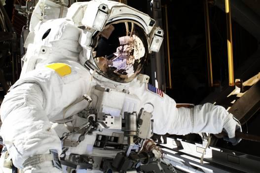 NASA astronauts in space - Dec 21st, 2013. Original from NASA.  Free Photo