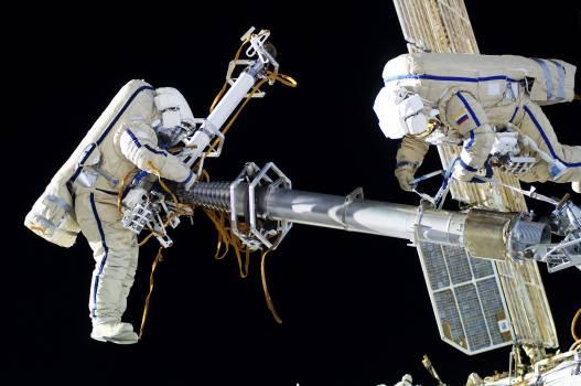 NASA astronauts in space - Feb 12th, 2012. Original from NASA.  Free Photo