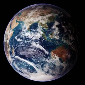 NASA/Goddard Space Flight Center/Reto Stöckli's amazingly beautiful view of Earth from space. October 9th, 2007. Original from NASA.  Free Photo