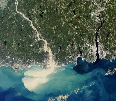 Sediment Spews from Connecticut River. Original from NASA.  #393394