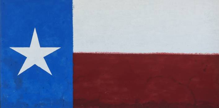 Painting of the American and Texas flags on a building in Albany, Texas, seat of Shackelford County. Original image from Carol M. Highsmith's America, Library of Congress collection.  #394013
