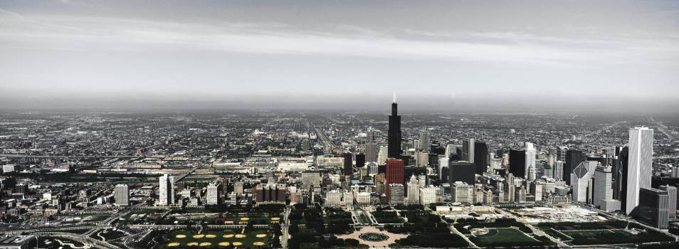 Panoramic view of Chicago. Original image from Carol M. Highsmith's America, Library of Congress collection.  #394255