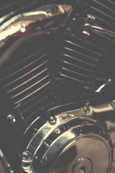 Close of a motorbike part Free Photo