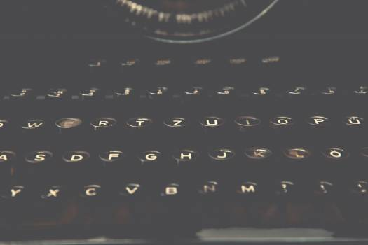 Vintage typewriter keys #394336
