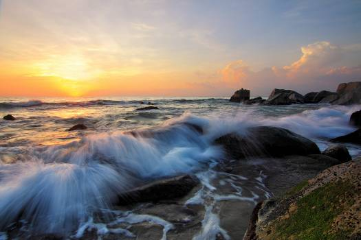 Sea dawn landscape nature Free Photo