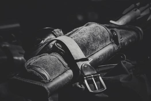 Leather Garrison Belt Grayscale Photo Free Photo
