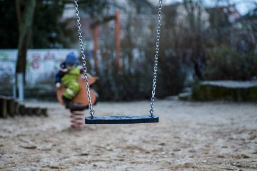 A swing at a playground #394912