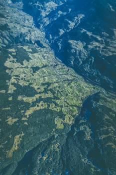 Aerial view of mountains #394975