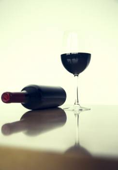 A glass of red wine #395121