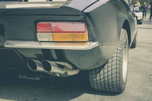 Close up of a vintage car exhaust pipe #395158