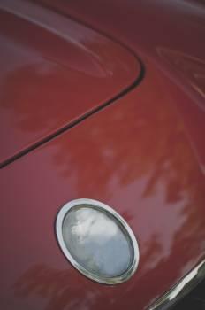 Interiors of classic red car #395300