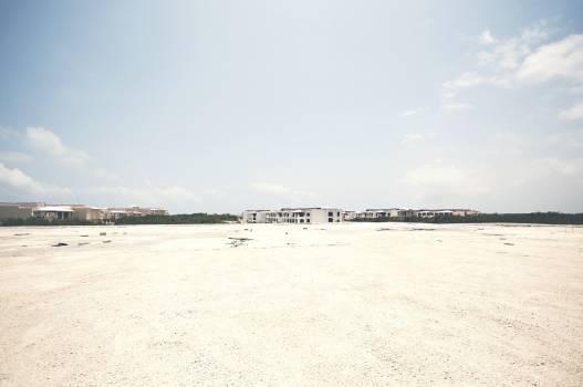 Wide white sand beach Free Photo