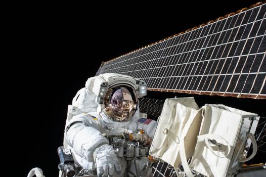 Space astronaut dark satellite Free Photo