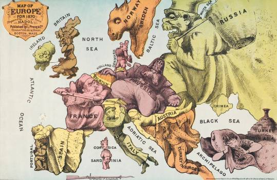 War Map of Europe: As seen through French eyes by Paul Hadol. Original from Library of Congress.  #395766