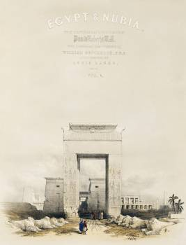 Great gateway leading to the Temple of Karnak Thebes illustration by David Roberts (1796–1864). Original from The New York Public Library.  #395954