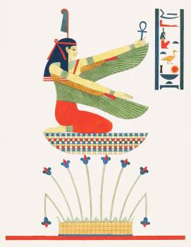 Satis illustration from Pantheon Egyptien (1823-1825) by Leon Jean Joseph Dubois (1780-1846). Original from The New York Public Library.  Free Photo