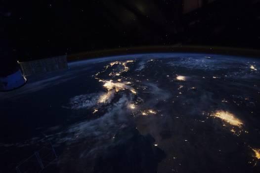 Beautiful image of West coast of California before dawn. Original from NASA .  #396587
